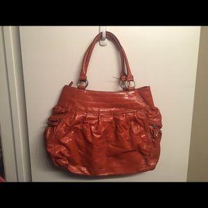 Large orange hobo bag!